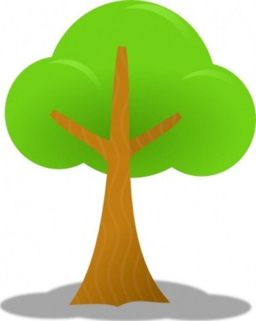 Simple árbol de Clip Art.