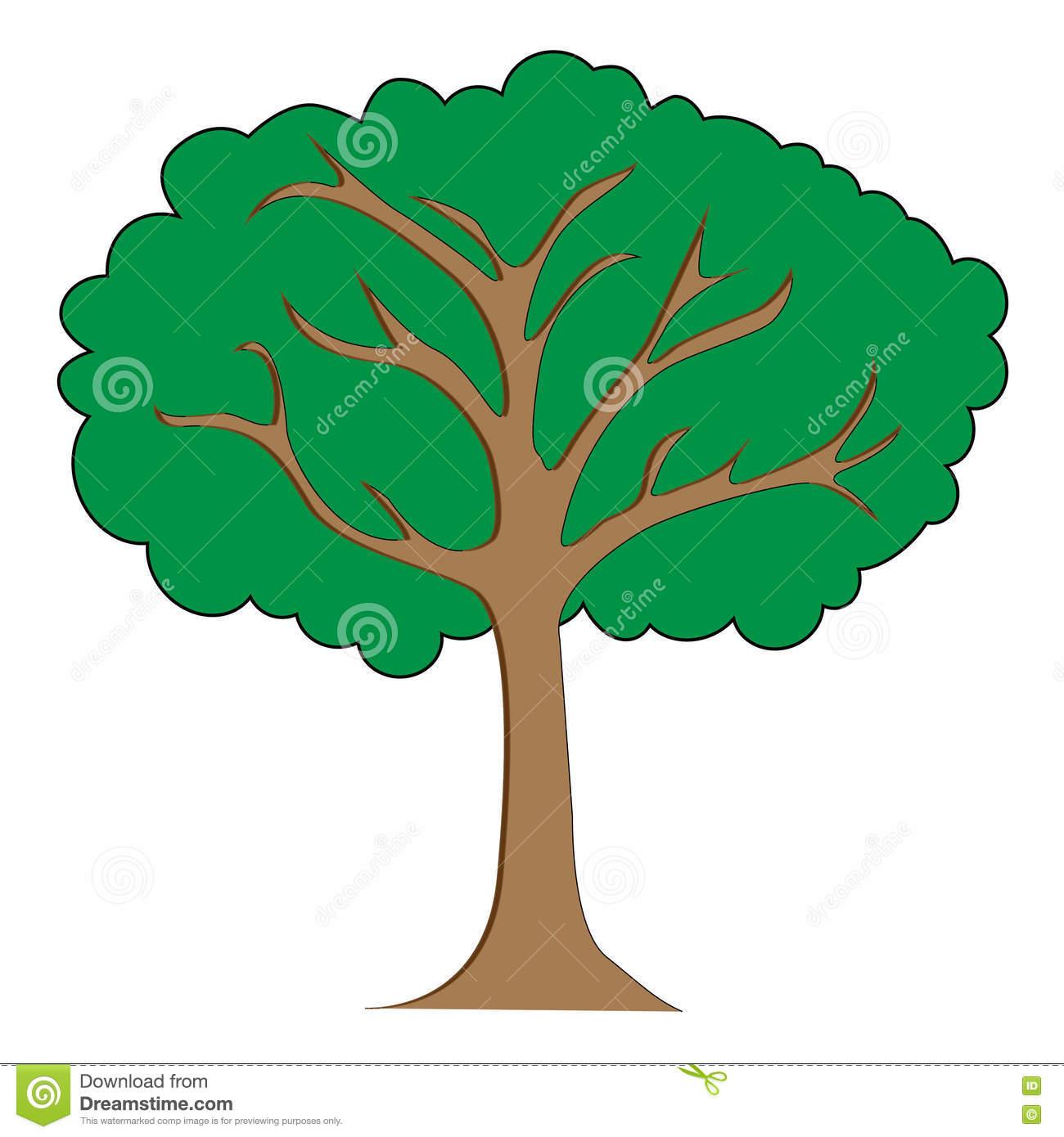 Ejemplo Del Clipart Del árbol Ilustración del Vector.
