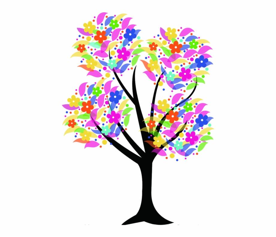 Tree Clipart Free Arboles Para Dibujar A Color.