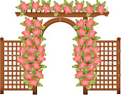 Items similar to wedding clipart,small wedding arbor without gate.