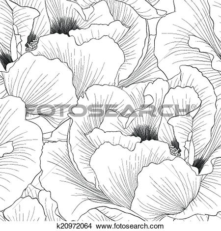 Clipart of Beautiful monochrome, black and white seamless.