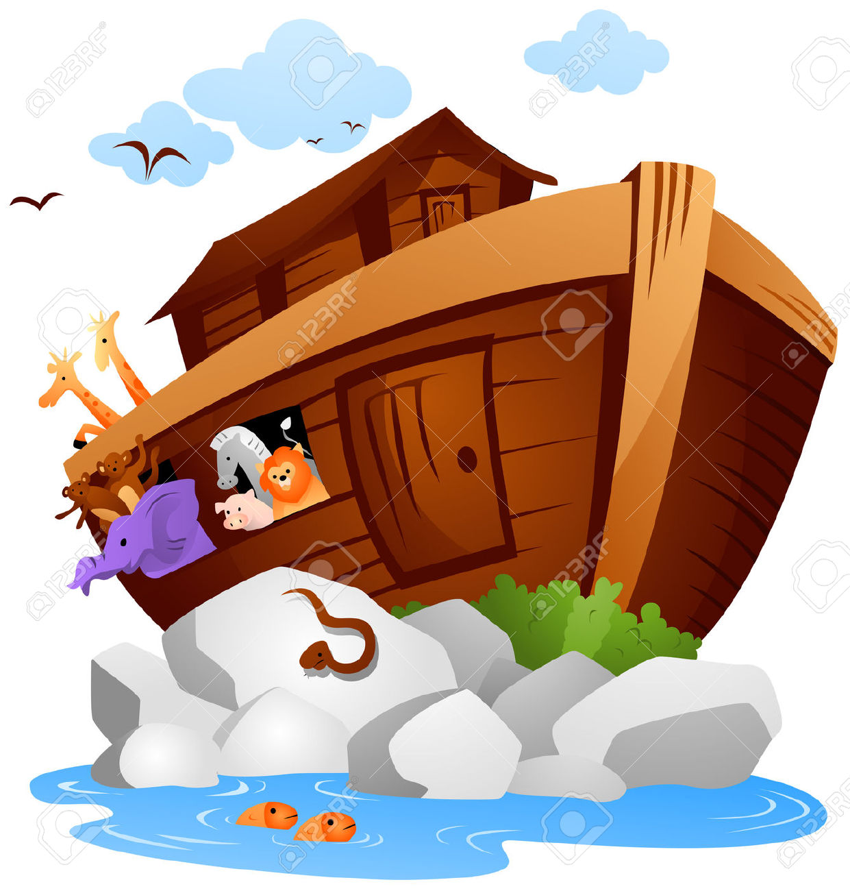 Noah's Arc With Clipping Path Royalty Free Cliparts, Vectors, And.