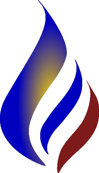 Blue Flame Arc PNG, SVG Clip art for Web.