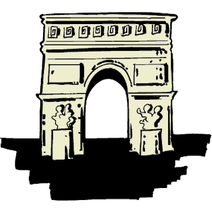 Arc de Triomphe clipart, cliparts of Arc de Triomphe free download.
