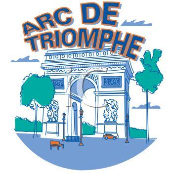 Royalty Free Clip Art Image: Arc De Triomphe.