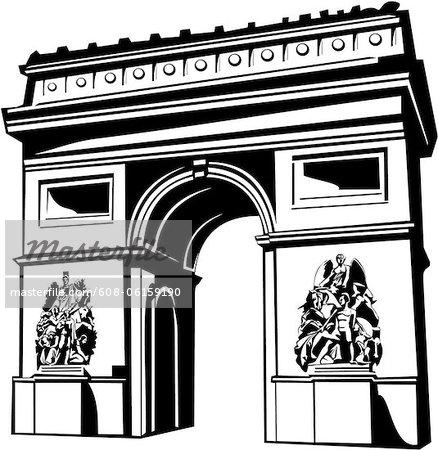 Clipart arc de triomphe.