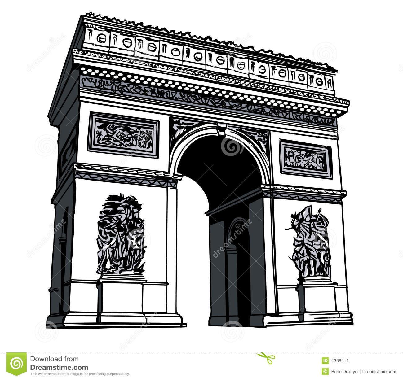 Arc de triomphe clipart free.