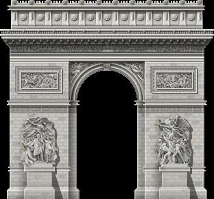 Arc De Triomphe Paris transparent PNG.