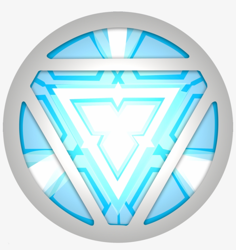 Iron Man Arc Reactor Vector Transparent PNG.