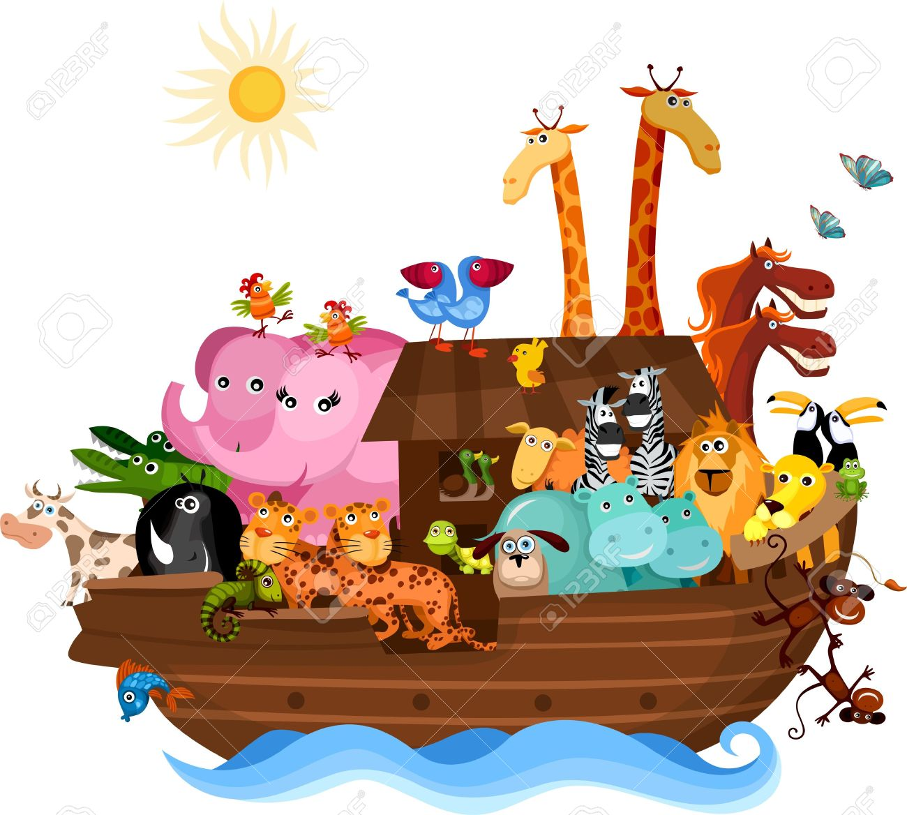 Noah's Ark Royalty Free Cliparts, Vectors, And Stock Illustration.