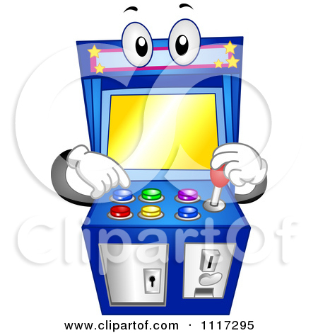 Clipart of an Arcade Video Game Machine.