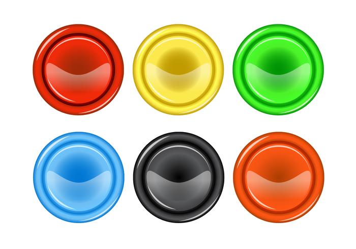 Free Arcade Button Vector.