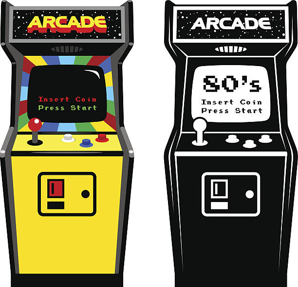 Best Arcade Machine Illustrations, Royalty.