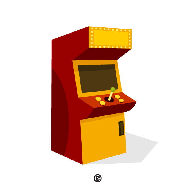 Arcade machine vector clip art ai, eps file.