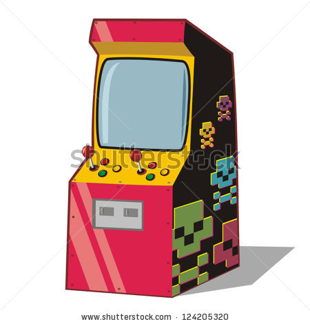 Arcade Game Machines Clip Art.