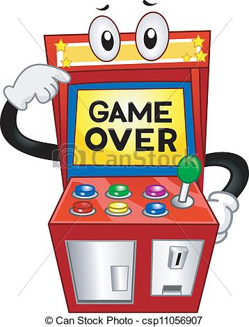 Vector Clipart of Game Over.
