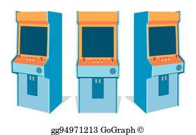 Arcade Game Clip Art.