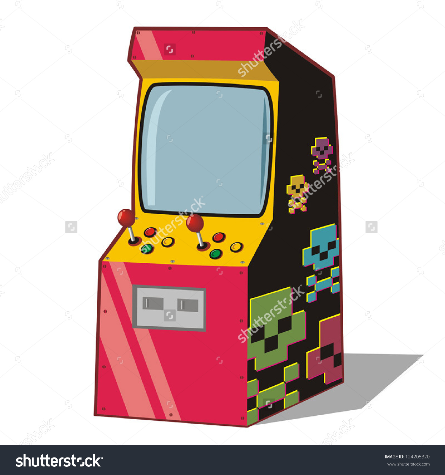 Arcade Video Game Clip Art.