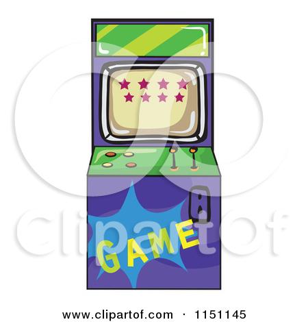 Clipart of an Arcade Video Game Machine.
