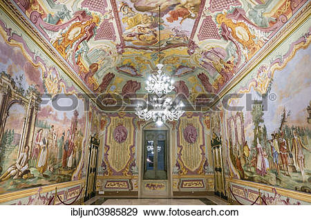"Stock Photograph of ""Rococo frescoes by Domenico Carella, Sala."