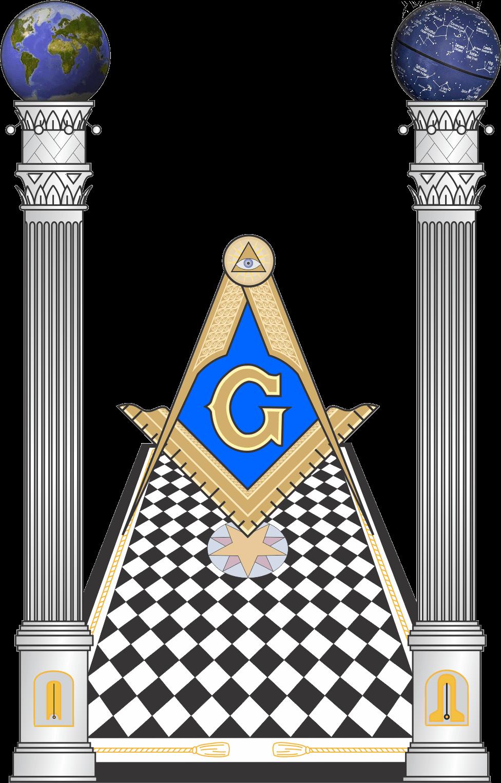 Masonic pillars clip art.