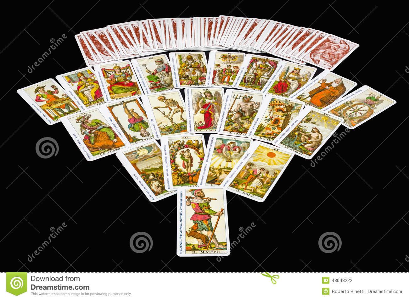 22 Major Arcana Tarot Stock Photo.
