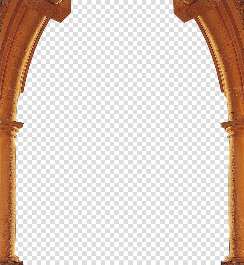 Arch illustration, Column Arch, Classical pillars Border.