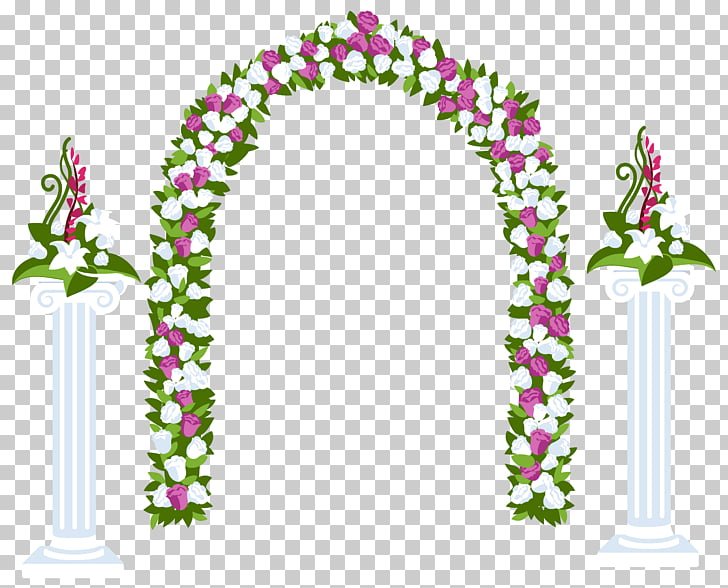 Arch Flower , wedding floral PNG clipart.