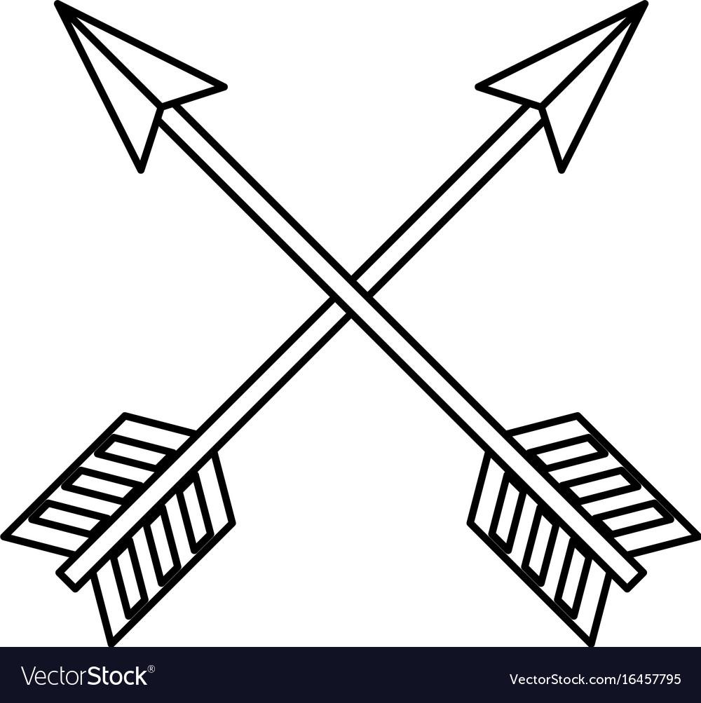 Arch bow arrow.