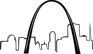 St Louis Gateway Arch clip art.