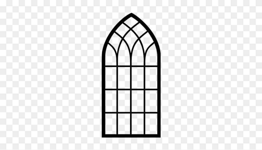 Download Free png Church Window Clipart Arch Window Frame Silhouette.