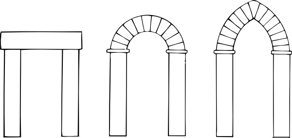 Arch Types clip art Free vector in Open office drawing svg ( .svg.