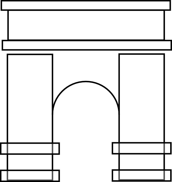 Arch clip art Free vector in Open office drawing svg ( .svg.