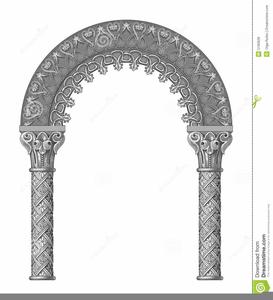 Roman Arch Clipart.