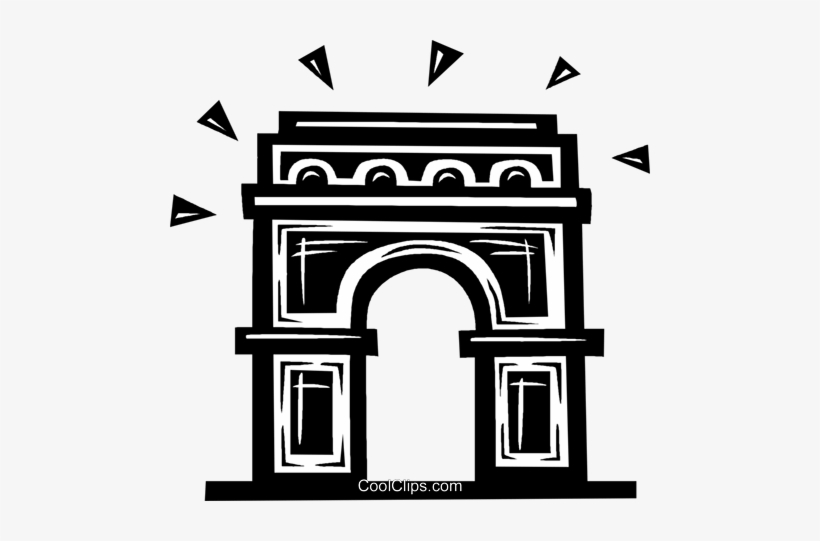 Arc De Triomphe Royalty Free Vector Clip Art Illustration.