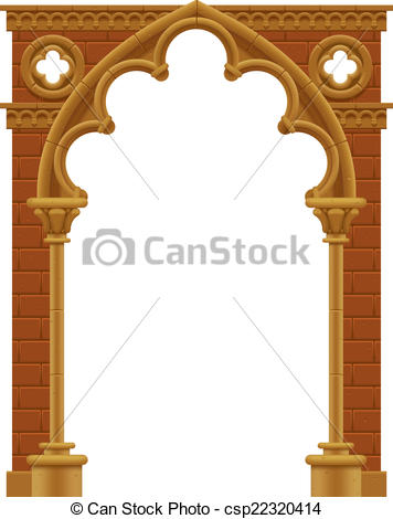 Temple entrance arch clipart.