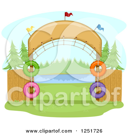 Clipart of an Arched Entrance to a Campground.