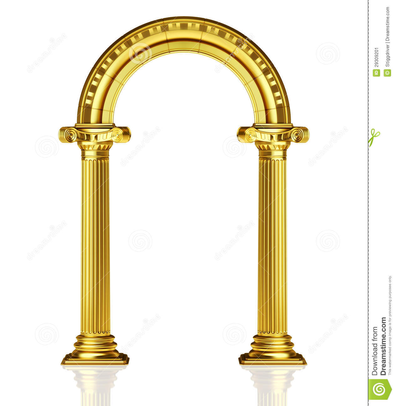 Gold Arch Stock Image.