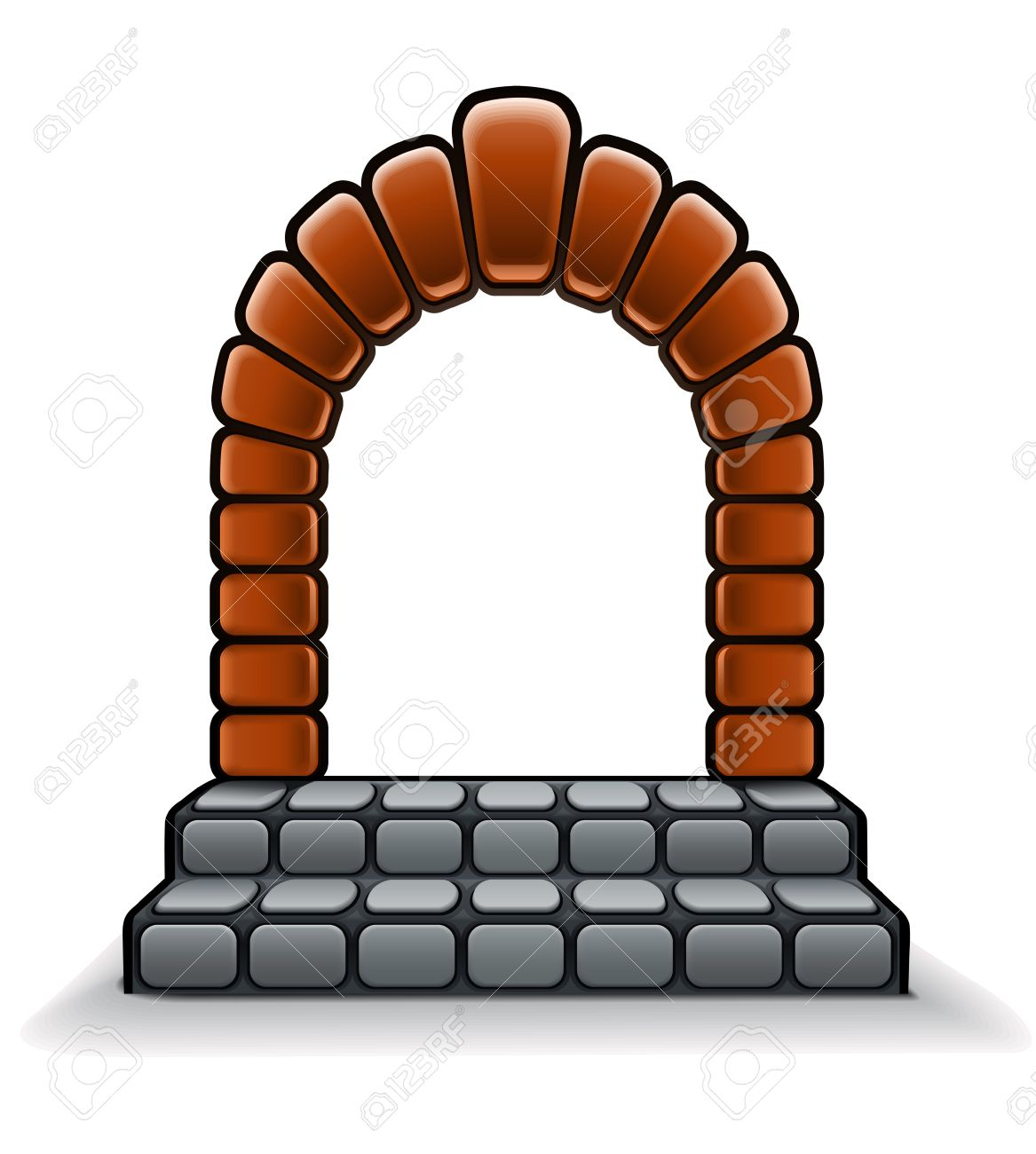 Entrance Stone Door With Arch Royalty Free Cliparts, Vectors, And.