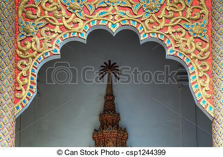 Temple entrance arch clipart.