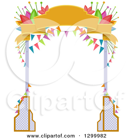 Clipart of a Halloween Party Entrance Arch of a Ghost.