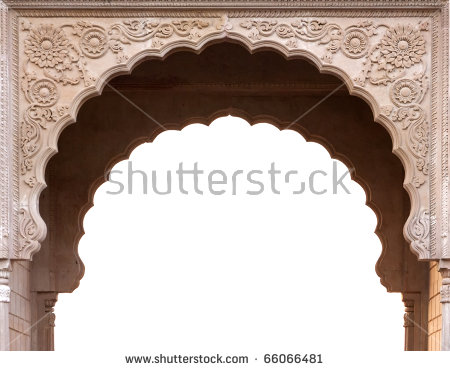 Temple Arch Entrance India Stock Photo 66066481.