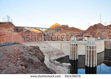 Penstock Towers Stock Photos, Royalty.