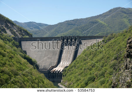 Concrete Dam Stock Photos, Royalty.
