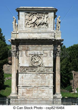 Stock Photo of Arch of Constantine Rome.