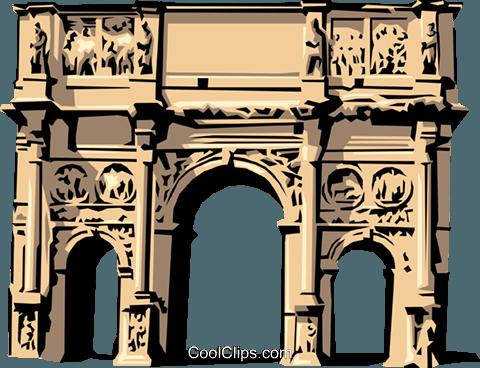 Roman Arch of Constantine Royalty Free Vector Clip Art.