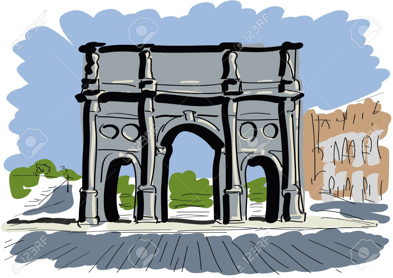 Arch Of Constantine Royalty Free Cliparts, Vectors, And Stock.