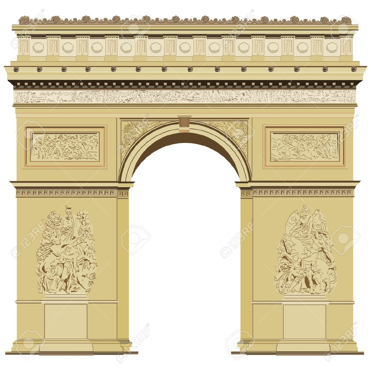 Arch Of Triumph Royalty Free Cliparts, Vectors, And Stock.