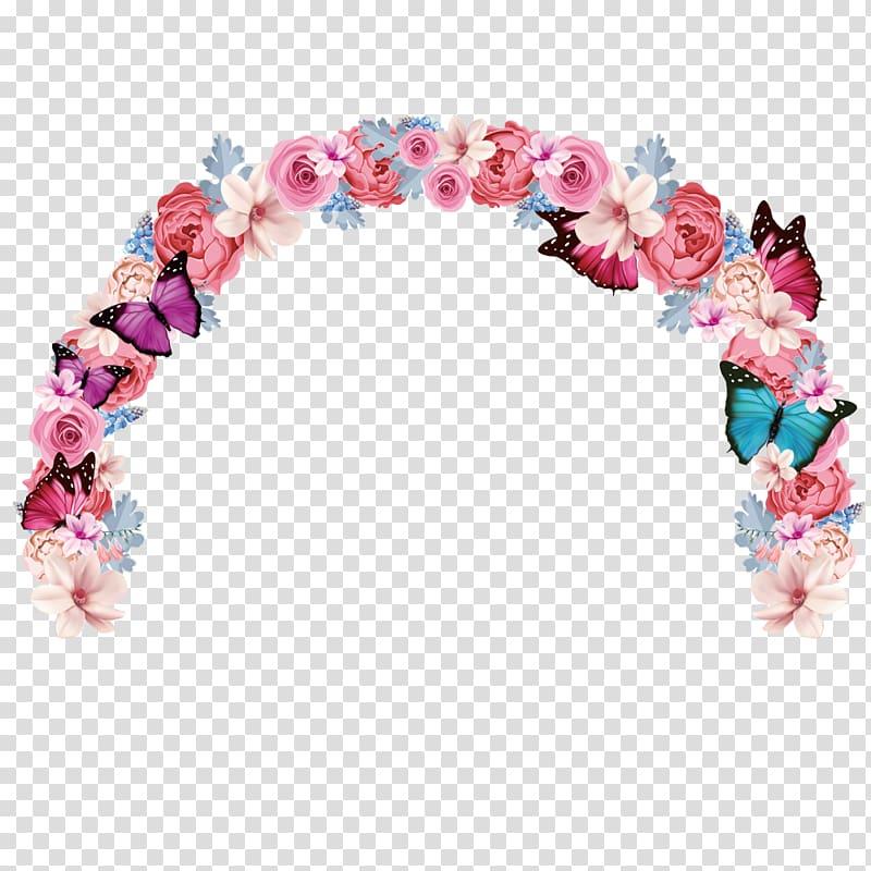 Wedding flower arch transparent background PNG clipart.