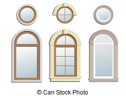 Three arched windows Vector Clipart Illustrations. 34 Three.